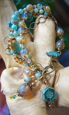 TUSCANY TOO 5 Strand Bangle Bracelet by BraceletsofBlueRidge