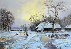Rob van Assen - Rieten hutten in winterlandschap - ArtBoutique