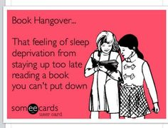 @Lisa Phillips-Barton Phillips-Barton Haynie ever had a book hangover before?