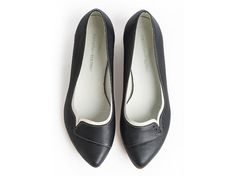 Ninna Black, black shoes, Leather shoes, Leather Flats, Handmade shoes