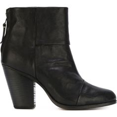 Rag & Bone Zipper Booties ($430) ❤ liked on Polyvore featuring shoes, boots, ankle booties, black, zip boots, black zipper booties, zipper boots, black ankle booties and rag bone boots