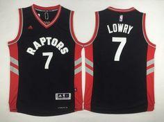 c9a1d4dd7 Men s Toronto Raptors  7 Kyle Lowry Revolution 30 Swingman 2014 New Black Jersey  Kyle Lowry