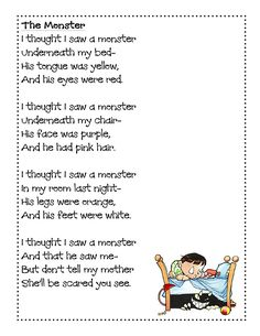 halloween poems for kids - Google Search