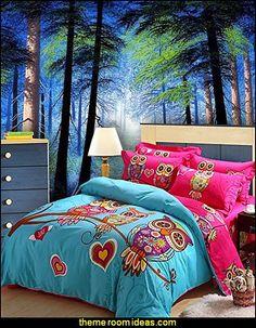 Owl Duvet Style Comforter Set - forest wall murals