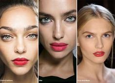 Spring/ Summer 2016 Makeup Trends: Candy Apple Lipstick  #makeup #beauty #trends #ss16
