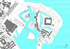 Danish National Maritime Museum in Helsingør / by BIG - Architecture List Helsingor, Bjarke Ingels Architecture, Museum Plan, Louisiana Museum, Urban Park, Site Plans, Maritime Museum, Master Plan, Location
