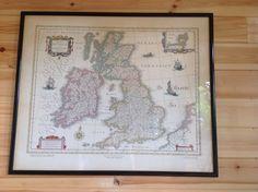 Vintage Framed Map Of British Isles in Antiques, Maps, UK | eBay