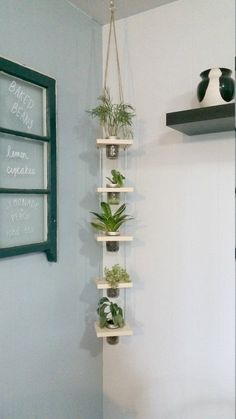 Mason Jar Crafts 816629344916128180 - Hanging Mason Jar Planter Vertical Planter Hanging Tiered, Source by