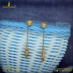 Sparkling With Beauty, Shining With Pride, Capativity and Charm. Get in touch with us on Gold Jhumka Earrings, Gold Earrings Designs, Gold Diamond Earrings, Gold Jewellery Design, Chain Earrings, Necklace Designs, Gold Rings Jewelry, Ear Jewelry, Beaded Jewelry