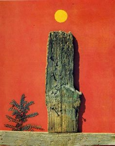 'rot wald', öl auf leinwand von Max Ernst (1891-1976, Germany)