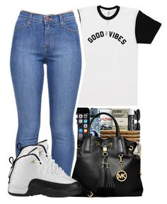 """""""good vibes ✌️"""" by jadeessxo on Polyvore featuring MICHAEL Michael Kors and Retrò"""