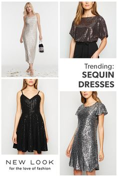 Turn heads with our range of going out clothing; explore our women's party wear with a variety of party dresses, shoes and more. Sequin Dress, Bodycon Dress, Sparkly Outfits, Going Out Outfits, Party Fashion, Fashion Styles, Must Haves, New Look, Night Out
