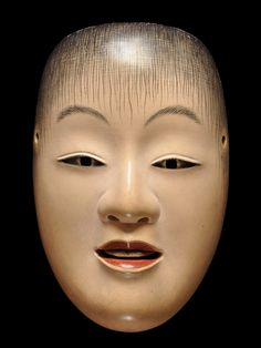 Noh mask of Doji 童子 by Ichiyu TERAI, Japan