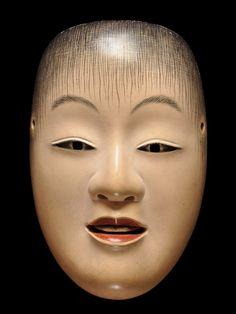 Noh mask of Doji 童子 by Ichiyu TERAI, Japan