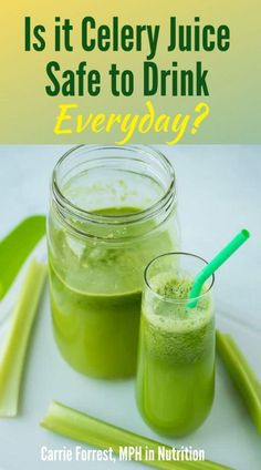 Is celery juice safe to drink everyday and how much should you be drinking? I share all the details about the possible b. Cucumber Juice Benefits, Juicing Benefits, Benefits Of Celery Juice, Best Nutrition Food, Health And Nutrition, Health Tips, Nutrition Products, Proper Nutrition, Health Recipes
