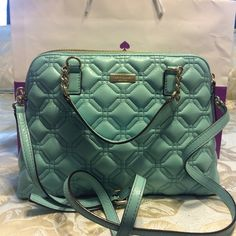 Gorgeous baby blue Quilted Kate Spade handbag. Small-medium handbag. Lightweight. Authentic Kate Spade with tags. kate spade Bags Shoulder Bags