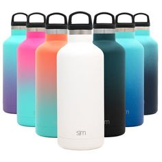 Feb 2020 - Simple Modern Ascent Water Bottle - Hydro Vacuum Insulated Tumbler Flask w/ Handle Lid - Double Wall Stainless Steel Reusable - Leakproof Ombre: Sweet Taffy Size: 32 oz, Multicolor Modern Water Bottles, Cute Water Bottles, Reusable Water Bottles, Insulated Water Bottle, Insulated Tumblers, Filtered Water Bottle, Best Water Bottle, Steel Water Bottle, Water Bottle Design