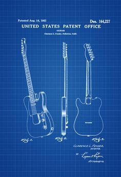 Fender guitar patent, 1951 #fenderguitars