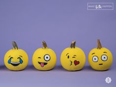 Make Perfect Emoji Pumpkins For Halloween In 3 Super Simple Steps — DIY