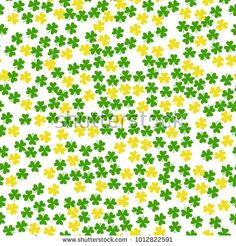ff01743f79 St Patrick's Day Clover seamless pattern. Vector illustration for lucky  spring design with shamrock. Green clover isolated on white background.