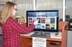 I want one! A kiosk in the school library connected to the public lib to check out e-content