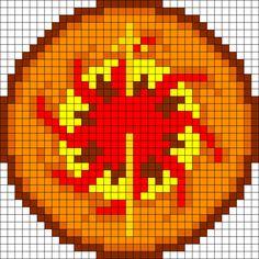Game Of Thrones Martell Sigil perler bead pattern