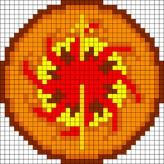 Game Of Thrones Martell Sigil Perler Bead Pattern / Bead Sprite