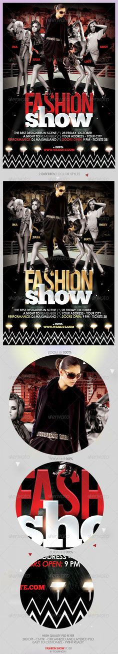 Buy Fashion Show Flyer Template - Vol 2 by touringxx on GraphicRiver. Fashion Show Flyer Template This flyer is perfect for the promotion of Fashion Events, Club Parties, Musicals, Festiv. White Fashion, New Fashion, Trendy Fashion, Style Fashion, Fashion Ideas, Chic Summer Style, Cool Style, Fashion Show Party, Summer Minimalist