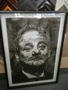 Bill Murray in charcoal