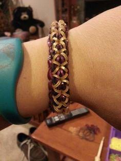 X-twister #rainbowloom bracelet. (tutorial: http://loomlove.com/make-x-twister/)