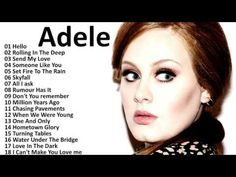 Adele All Songs 2017 - Adele Greatest Hits Playlist Music In The World Music Mix, Sound Of Music, Greatest Songs, Greatest Hits, Good Girl Song, Christian Rock Music, Got Talent Videos, Adele Songs, Great Music Videos