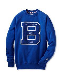 55% OFF Billionaire Boys Club Men's Longsleeve Scholar Crewneck (Blue)