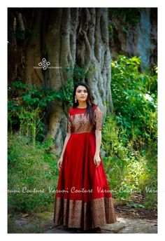 Long Dresses made out of old and Damaged Sarees LongDresses is part of Sari dress - Long Dress made out of Saree I have already made a post to reuse and revive your old Kanjeevaram sarees in different ways you can read the post Reu… Indian Fashion Dresses, Indian Gowns Dresses, Dress Indian Style, Indian Designer Outfits, India Fashion, Lehenga Designs, Kurta Designs, Blouse Designs, Long Gown Dress