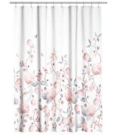 Katso! Suihkuverho vettähylkivää painokuvioitua polyesteriä. Metalliset…