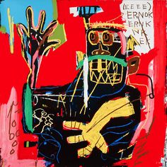 """Jean Michel Basquiat """"Ernok"""" from """"The Estate Series"""" (1982) 