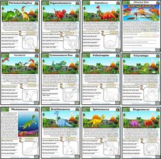 Dinosaur Reading Comprehension Cards Reading Comprehension Worksheets, Reading Passages, Comprehension Questions, Animal Riddles, Classroom Rules Poster, Reading Recovery, What Is Science, Phonics Games, English Activities