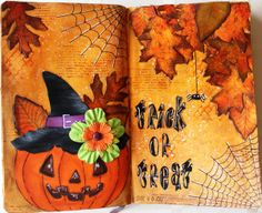 Art Journal Layout : Trick or Treat / Halloween
