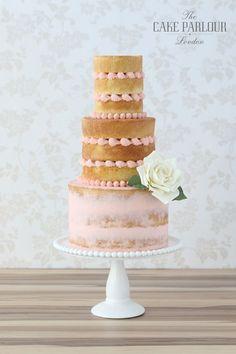 Absolutely gorgeous nearly naked beautiful wedding cake