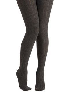 Candy Cottages Tights in Charcoal - Grey, Solid, Knitted, Boho, Urban, Darling, Festival, Fall, Winter, Knit
