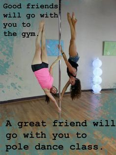 Who would you invite to go with you to pole dance class? southernutahpoledance.com/classes