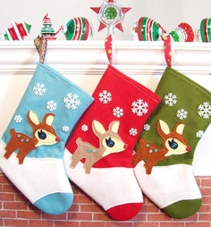 Wool Felt Ecofelt Christmas Stocking Woodland Hedgehog By