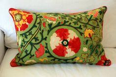Brunschwig & Fils Dzhambul Pillow Cover 16 x 24  by Modern Coastal Interiors