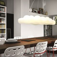 Nefos Cloud Suspension Light by Paolo De Lucchi for Myyour. A fun and original design that represents a large fluffy cloud, great for bringing character to any room in the house. Luminaire Design, Lamp Design, Luminaire Original, Cloud Lights, Lampe Decoration, Cloud Shapes, Suspension Design, Home And Deco, Design Moderne