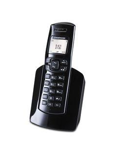 D150 : black cordless phone (3/4 right HD) // Téléphone de maison mains-libre (3/4 droit HD) (3543 x 4724)