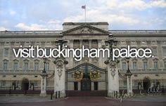 Visit Buckingham Palace in London, United Kingdom. / Bucket List Ideas / Before I Die