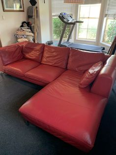 Italian Leather Couch | eBay