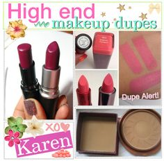 """High end makeup dupes 3"" by every-girl-has-a-tip ❤ liked on Polyvore"