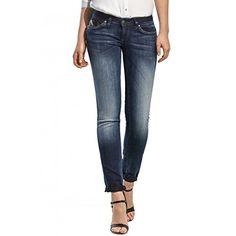 2cd71089f45ff Salsa - Jeans Push Up jambe slim avec détails en simili cuir - Femme