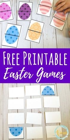 This printable Easter games for toddlers and preschoolers can be used as a puzzle and matching game or a memory game! Great as a busy bag! activities for toddlers Printable Easter Games for Toddlers and Preschoolers Matching Games For Toddlers, Easter Activities For Toddlers, Activities For 1 Year Olds, Easter Activities For Kids, Preschool Games, Easter Crafts For Kids, Toddler Preschool, Easter Crafts For Preschoolers, Educational Games For Toddlers