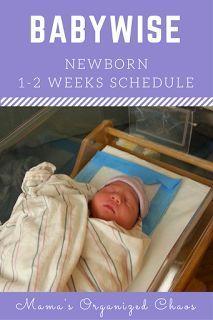 Mama's Organized Chaos: NEWBORN (1-2 WEEKS) SCHEDULE